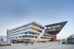 Exterior of Vienna University of Economics and Business. VIENNA, AUSTRIA - FEB 09, 2016: The Vienna University of Economics by architect Zaha Hadid and Business Stock Images