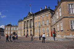 Exterior view of Amalienborg Palace, Copenhagen Royalty Free Stock Photography