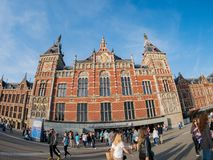 Exterior view of the Amsterdam Centraal station stock image