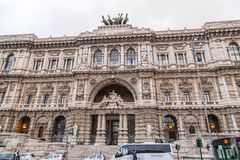 Exterior view of Anmig building in Rome, Italy royalty free stock photography