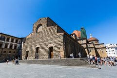 Exterior view of the Basilica di San Lorenzo in Florence Stock Image