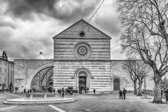 Exterior view of the Basilica of Saint Clare, Assisi, Italy Royalty Free Stock Photography