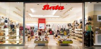 Exterior view of Bata Shop stock photos