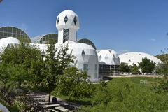 Exterior view of the Biosphere 2. Arizona, U.S.A stock images