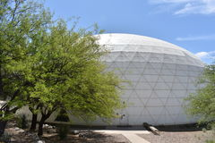 Exterior view of the Biosphere 2. Arizona, U.S.A stock photo