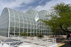Exterior view of the Biosphere 2. Arizona, U.S.A royalty free stock photo
