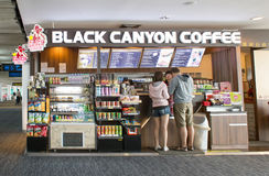 Exterior view of Black Canyon Coffee Shop Royalty Free Stock Images