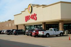 Exterior view of Buc-ees gas station and convenience store in Waller, Texas. Exterior view of Buc-ees gas station and convenience store in Waller, Texas royalty free stock photo