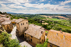 Exterior view of Buildings in the medieval and renaissance town Stock Photography