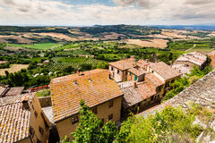 Exterior view of Buildings in the medieval and renaissance town Royalty Free Stock Photo