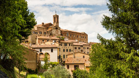 Exterior view of Buildings in the medieval and renaissance town Royalty Free Stock Image