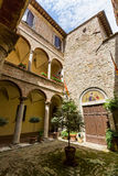 Exterior view of Buildings in the medieval and renaissance town Royalty Free Stock Photos