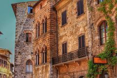 Buildings in San Gimignano, Italy royalty free stock images