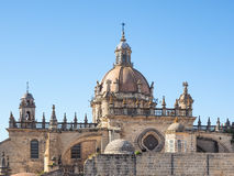 Exterior view of the cathedral of Jerez de la Frontera Royalty Free Stock Image