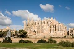 Cathedral of Palma de Mallorca. Exterior view of the Cathedral of Palma de Mallorca,Spain Royalty Free Stock Photography