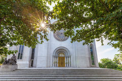 Exterior view of  a Catholic Church, Assumption University, Thail Stock Photo