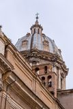 Exterior view of Chiesa Sant`Andrea della Valle in Rome, Italy. Exterior view of Chiesa Sant`Andrea della Valle in Rome, Italian capital royalty free stock image