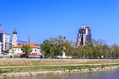 Exterior view of the church of Crkva Sv. Bogorodica in Skopje, M Royalty Free Stock Photos