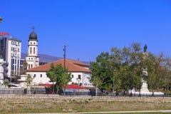 Exterior view of the church of Crkva Sv. Bogorodica in Skopje, M. Skopje, Macedonia - April 10, 2017: Exterior view of the church of Crkva Sv. Bogorodica in Stock Image