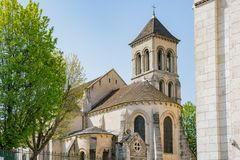 Exterior view of Church of Saint Peter of Montmartre royalty free stock photos