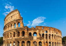 Exterior view of colosseum in Rome Royalty Free Stock Photography
