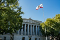 Exterior view of the Court of Appeal, Third Appellate District. At Sacramento, California Royalty Free Stock Photography