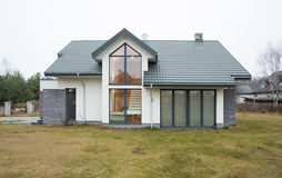 Exterior view of detached house Royalty Free Stock Photo