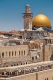 Dome of the Rock, Jerusalem. Exterior view of the Dome of the Rock Al Qubbet As-Sahra in Arabic in the holy site of the Old City in Jerusalem, Israel royalty free stock photography
