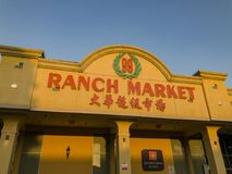 Exterior view of the famous Ranch 99 Market Royalty Free Stock Image