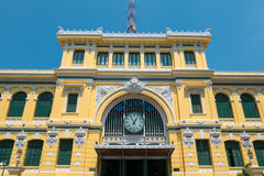 Exterior view of the General Post Office in Ho Chi Minh City Sai Stock Image