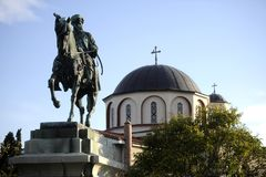 Greek orthodox church. Exterior view on Greek orthodox church on sunny day Stock Images