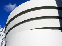 Exterior view of the Guggenheim Museum, Manhattan, Stock Image