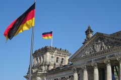 Reichstag, the famous parliament of Germany royalty free stock images
