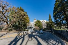 Exterior view of the historical California State Capitol. Afternoon exterior view of the historical California State Capitol at Sacramento, California royalty free stock photos