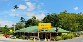 Exterior view of historical Leap Hotel in Queensland, Australia stock photos