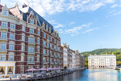 Exterior view of hotel at huis ten bosch, japan Royalty Free Stock Photography