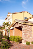 Exterior view of a house. Exterior view of a stucco house Stock Photo
