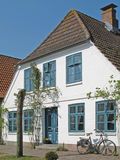 Exterior view of a house. Exterior view of a beautiful house in Arnis, Schleswig-Holstein, Germany stock photos