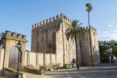 Exterior View of the Jerez de la Frontera Alcazar Royalty Free Stock Image
