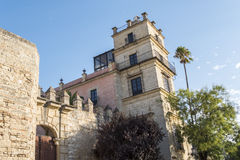 Exterior View of the Jerez de la Frontera Alcazar Stock Photography