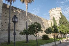 Exterior View of the Jerez de la Frontera Alcazar Royalty Free Stock Images