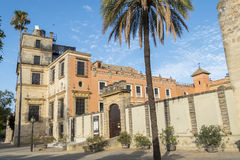 Exterior View of the Jerez de la Frontera Alcazar Stock Images