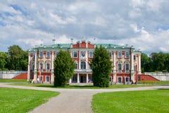 Exterior view of Kadriorg Palace, Estonia. Exterior view of the Baroque facade of Kadriorg Palace, Tallinn, Estonia built for Catherine 1 of Russia Royalty Free Stock Image