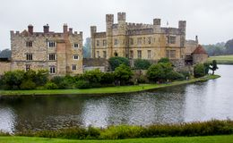 An Exterior View of Leeds Castle stock image