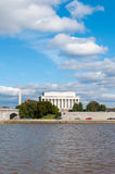 Exterior view of the Lincoln Memorial Monument seen from the Pot. Omac River, Washington D.C Royalty Free Stock Images