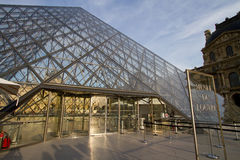 Exterior view of the Louvre, Paris Royalty Free Stock Photos