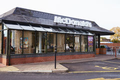 Exterior View Of McDonald's Restaurant Stock Photo
