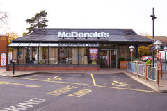 Exterior View Of McDonald's Restaurant Stock Photography