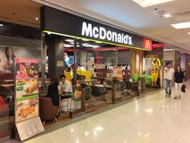 Exterior view of McDonald's Restaurant Stock Photo