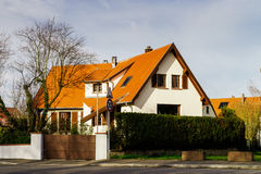Exterior view of new modern house in countryside Stock Image